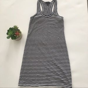 J. Crew Navy & White racerback knit dress size XXS